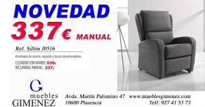 novedad sillon j0516 m gimenez abril 16, sofa cama en muebles Gimenez Plasencia